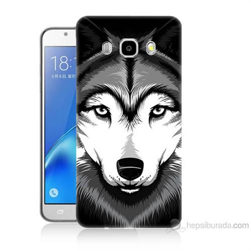 Teknomeg Samsung Galaxy J7 2016 Kapak Kılıf Kurt Baskılı Silikon