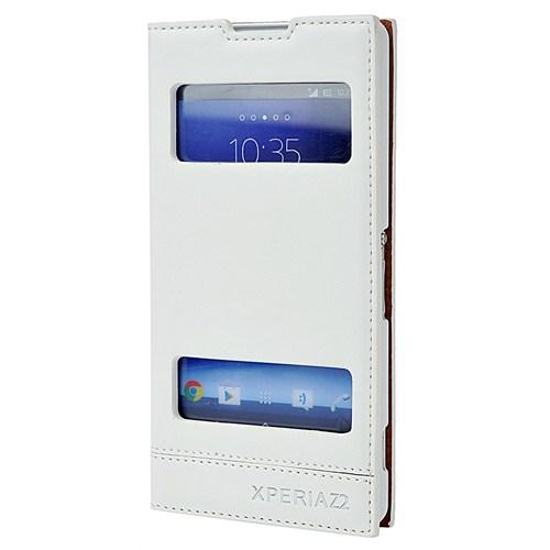 Coverzone Sony Xperia Z2 Kılıf Çift Pencere Milano