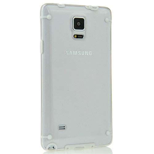 Coverzone Samsung Galaxy Note 4 Kılıf Kuno Rubber Şeffaf Kapak