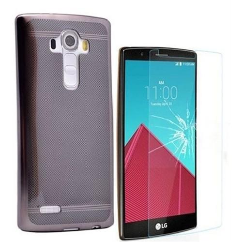 Kılıfshop Lg G4 Strom Silikon Kılıf (Siyah) + Kırılmaz Cam Ekran Koruyucu