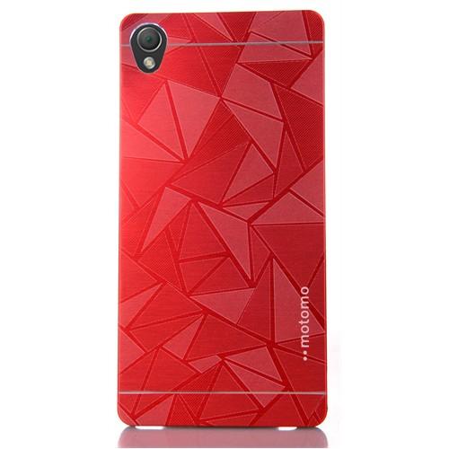 Coverzone Sony Xperia Z3 Kılıf Metalik Prizma Sert Arka Kapak + Temperli Cam