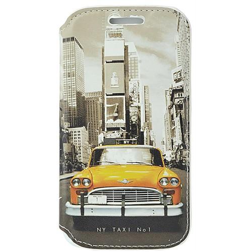 Coverzone Samsung Galaxy Ace 4 Kılıf Resimli Kapaklı New York Taksi