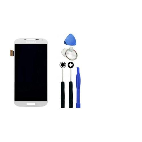 Samsung Galaxy S4 Ön Panel Dokunmatik Lcd Orjinal Beyaz + Sökme Aparatı
