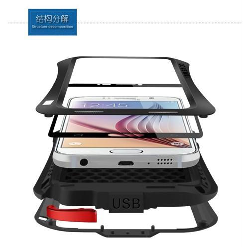Techmaster Samsung Galaxy S6 Kılıf Lovemei Askeri Kılıf