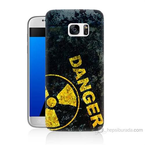 Teknomeg Samsung Galaxy S7 Kapak Kılıf Tehlikeli Baskılı Silikon
