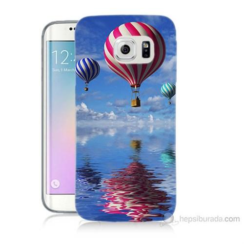 Teknomeg Samsung Galaxy S6 Edge Plus Kapak Kılıf Renkli Balonlar Baskılı Silikon