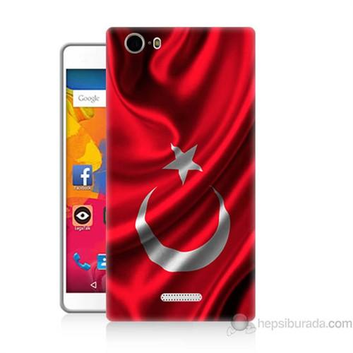 Teknomeg Casper Via M1 Kapak Kılıf Türkiye Bayrağı Baskılı Silikon
