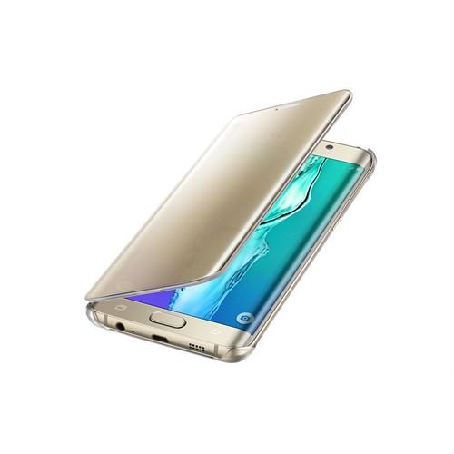 Samsung Galaxy S6 Edge Plus Orjinal Clear Wiev Kılıf-Gold