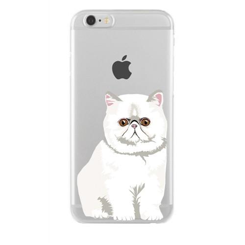 Remeto Samsung Galaxy Note 2 Transparan Silikon Resimli Şaşkın Kedi Kedisi