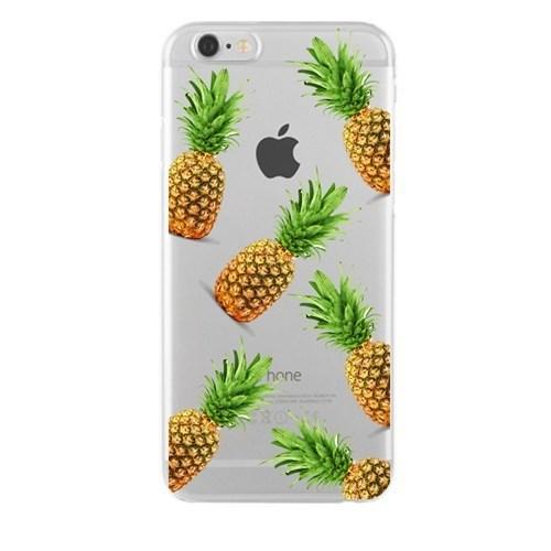 Remeto Samsung Galaxy S5 Mini Ananaslar Transparan Silikon Resimli Kılıf