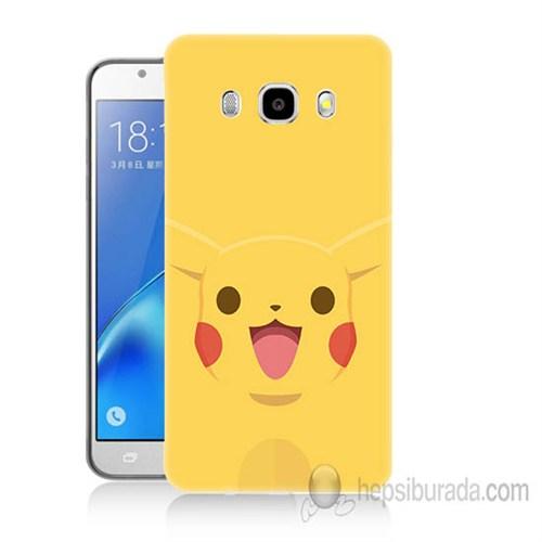 Teknomeg Samsung Galaxy J7 2016 Kapak Kılıf Pokemon Pikachu Baskılı Silikon