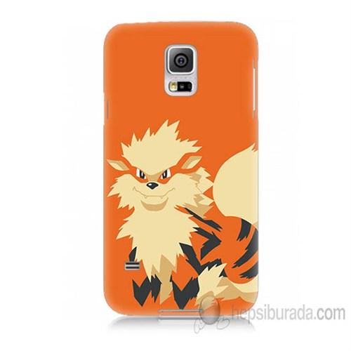 Teknomeg Samsung Galaxy S5 Mini Kapak Kılıf Pokemon Arcanine Baskılı Silikon