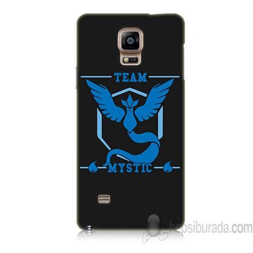 Teknomeg Samsung Galaxy Note 4 Kapak Kılıf Pokemon Team Mystic Baskılı Silikon