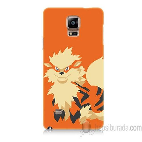 Teknomeg Samsung Galaxy Note 4 Kapak Kılıf Pokemon Arcanine Baskılı Silikon