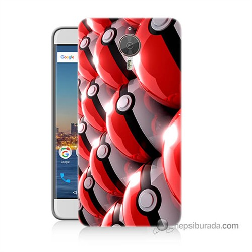 Teknomeg General Mobile Discovery Gm5 Plus Kapak Kılıf Pokemon Pokeball Baskılı Silikon