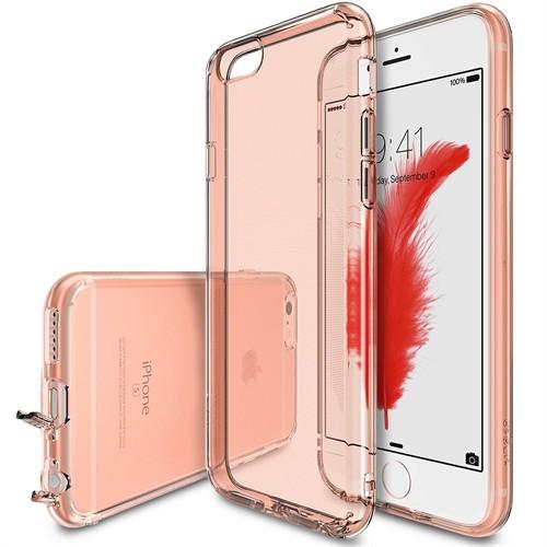 Ringke Air iPhone 6s/ 6 Kılıf Rose Gold - Ultra Hafif Esnek İnce Renkli Transparan