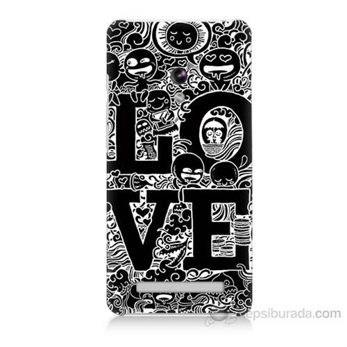 Teknomeg Asus Zenfone 5 Lite Love Baskılı Silikon Kapak Kılıf