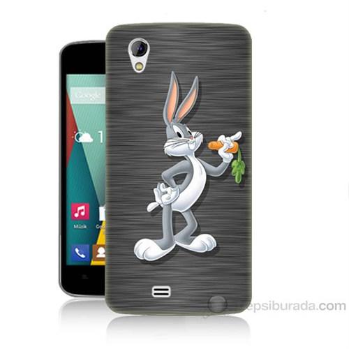Teknomeg General Mobile Discovery 2 Mini Bugs Bunny Baskılı Silikon Kapak Kılıf