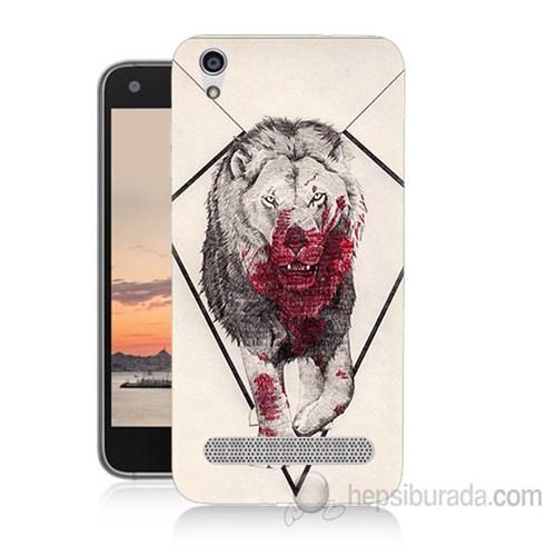 Teknomeg Vestel Venüs V3 5020 Kanlı Aslan Baskılı Silikon Kapak Kılıf