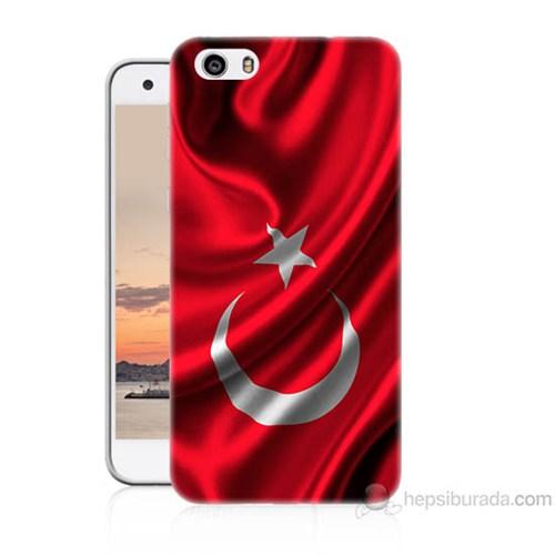 Teknomeg Vestel Venüs V3 5570 Türkiye Bayrağı Baskılı Silikon Kapak Kılıf