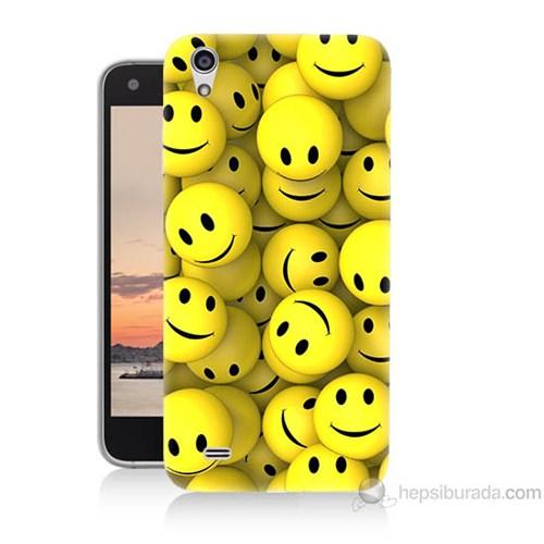 Teknomeg Vestel Venüs V3 5040 Smile Baskılı Silikon Kapak Kılıf