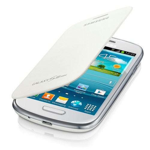Samsung Galaxy S3 Mini Flip Cover Kılıf Beyaz EFC-1M7FWEGSTD