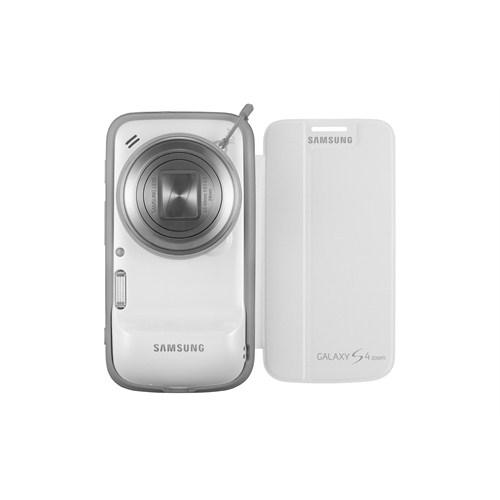 Samsung Galaxy S4 Zoom Kapaklı Kılıf Beyaz EF-GGS10FBEGWW
