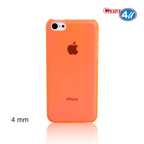 Case 4U iPhone 5c Turuncu Kapak Ultra İnce 0,4 mm
