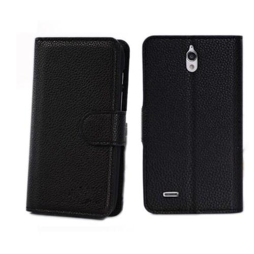 Microsonic Cüzdanlı Suni Deri Kılıf - Huawei Ascend G610 Siyah