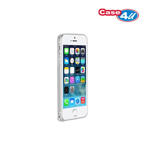 Case 4U Apple iPhone 5/5s Ultra Thin Metal Çerçeve Gümüş