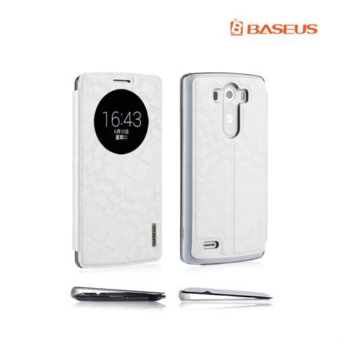 *Case 4U Baseus LG G3 Beyaz Kılıf (Uyku Modlu)