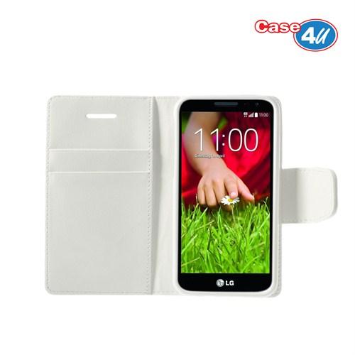 Case 4U LG G2 Mini Beyaz Kapaklı Kılıf