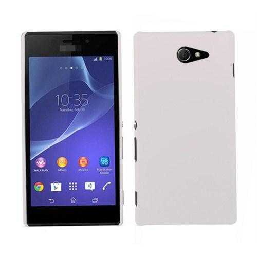 Microsonic Premium Sony Xperia M2 Slim Kılıf Beyaz - CS110-XPR-M2-BYZ