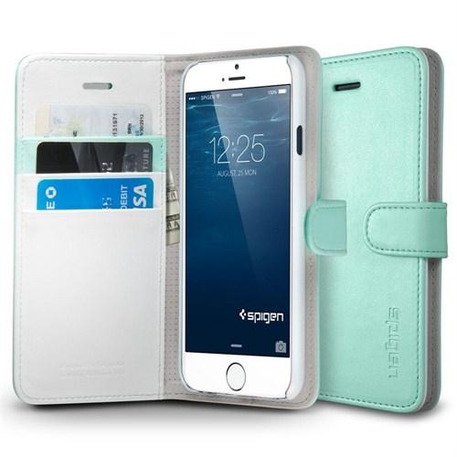 """Spigen Sgp Wallet S Mint for iPhone 6 (4.7"""") (PET) Cuzdan Kılıf - SGP10974"""