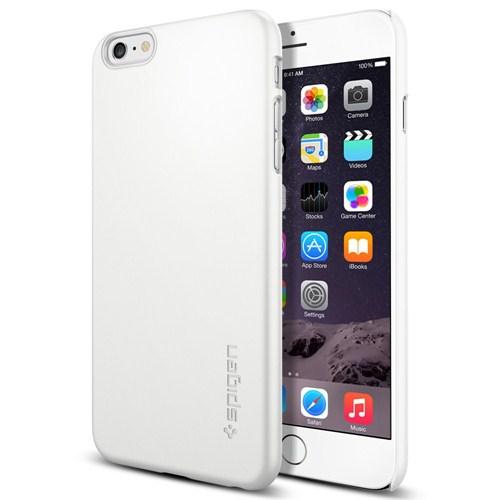 """Spigen iPhone 6 Plus (5.5"""") Case Thin Fit Series Shimmery White (PET) - SGP11101"""
