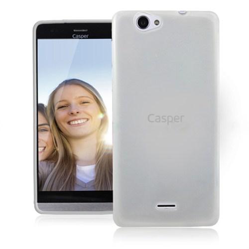 Microsonic Casper Via V5 Glossy Soft Kılıf Beyaz-CS130-GLSSY-CSPR-V5-BYZ