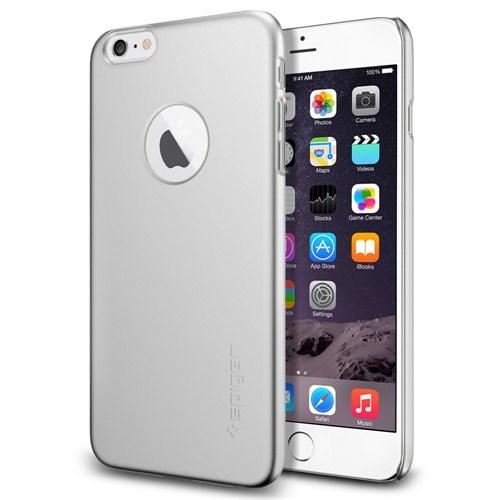 """Spigen SGP iPhone 6 Kılıf (5.5"""") Thin Fit A Series Satin Silver (PET) - SGP10888"""