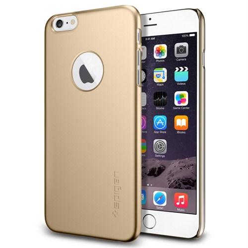 Spigen Sgp iPhone 6 Plus Kılıf Thin Fit A Series Champagne Gold (PET) - SGP10889