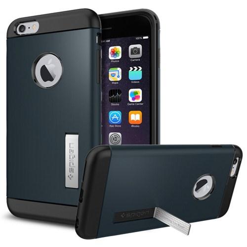 "Spigen Sgp iPhone 6 Plus Kılıf (5.5"") Slim Armor Series Metal Slate - SGP10901"