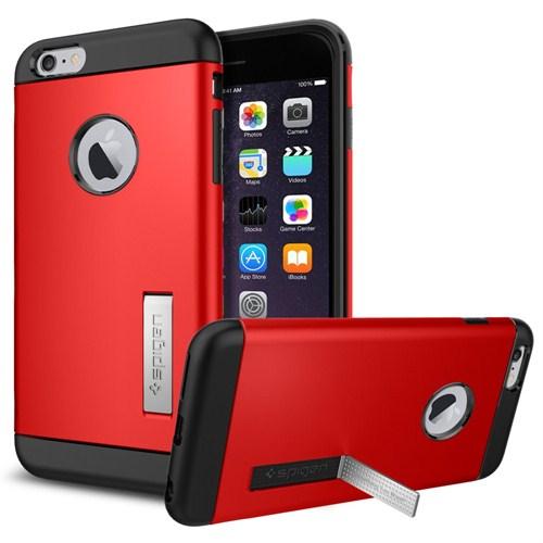 "Spigen Sgp iPhone 6 Plus Kılıf (5.5"") Slim Armor Series Electric Red - SGP10902"