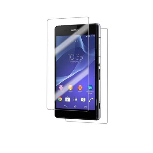 Case 4U Sony Xperia Z2 Ultra Şeffaf Ön ve Arka Ekran Koruyucu
