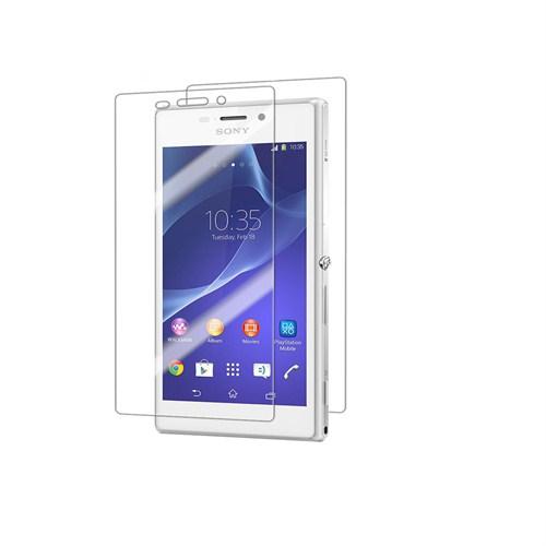 Case 4U Sony Xperia M2 Ultra Şeffaf Ön ve Arka Ekran Koruyucu