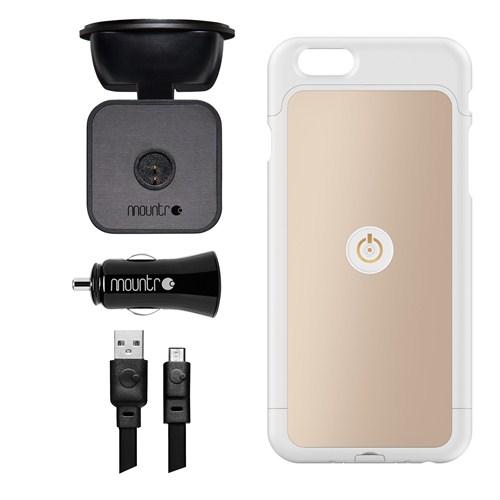 Mountr iPhone 6 Plus Uyumlu Akıllı Araç Tutacağı ( Altın Renk Kapak ) - SK-SCM-i6PA