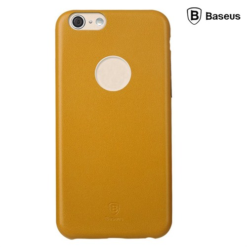 Baseus Thin Case (1mm) iPhone 6 Plus Arka Kapak - Sarı (Suni Deri)