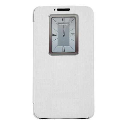 Case 4U Lg G2 Smart Wake on Kılıf (Sview Özellikli) Beyaz (Ekran Koruyucu Hediye)