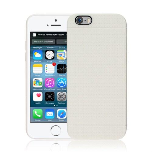 Microsonic iPhone 6 Plus (5.5) Dot Style Silikon Kılıf Beyaz - CS120-DOT-IP6P-BYZ