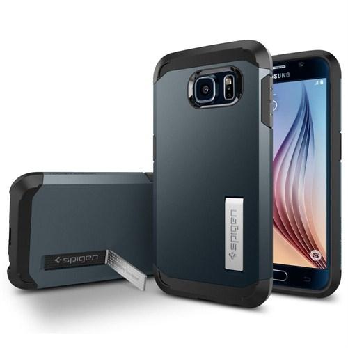 Spigen Samsung Galaxy S6 Kılıf Tough Armor - Metal Slate - SGP11336