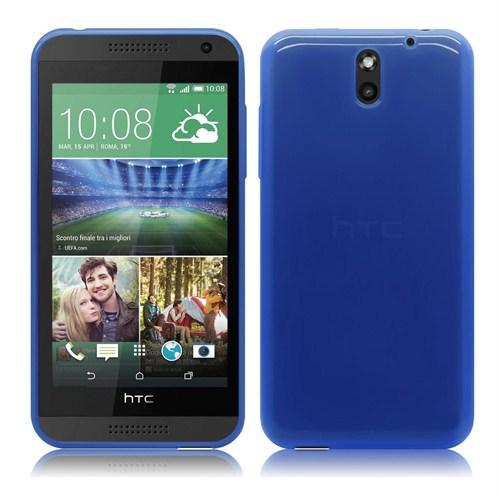 Case 4U HTC Desire 610 Soft Silikon Kılıf Mavi