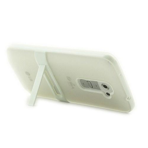 Microsonic Standlı Soft Lg G2 Kılıf Beyaz