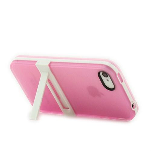 Microsonic Standlı Soft İphone 4S Kılıf Pembe